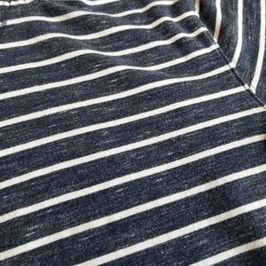 Old Navy Tops - Old Navy White and Navy Striped Hoodie